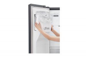 قیمت یخچال ساید رنگ تیتانیوم ال جی مدل j247