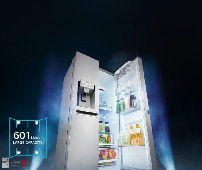 یخچال ساید بای ساید ال جی مدل GSJ760PZXV ظرفیت 30 فوت