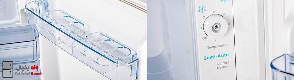 قیمت یخچال و فریزر 5 فوت هایسنس مدل RS-20DR4SA