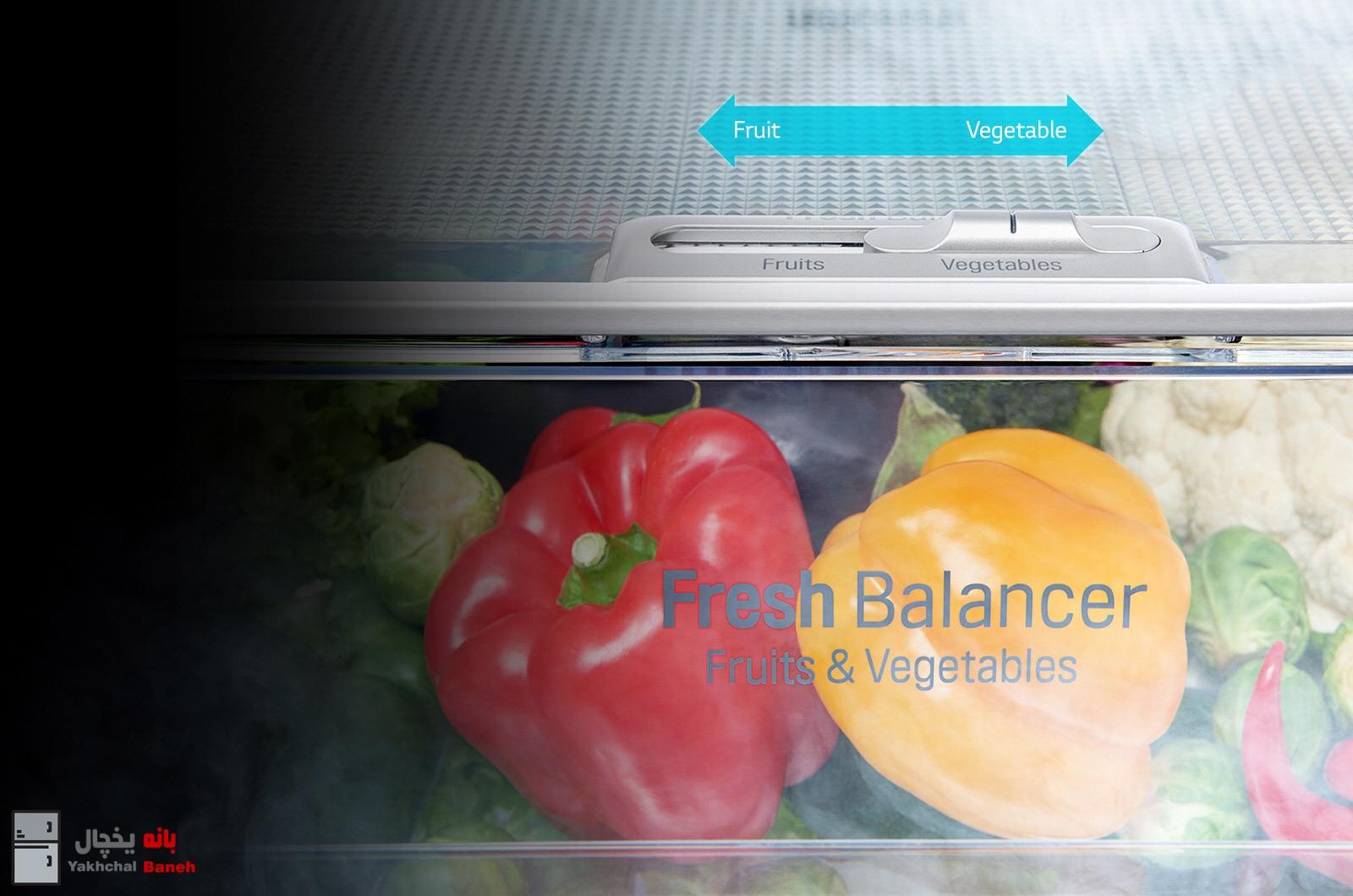 قیمت یخچال اینستاویو ال جی مدل X257 از بانه